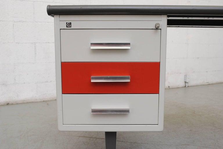 Gispen Industrial Metal Desk For Sale 1