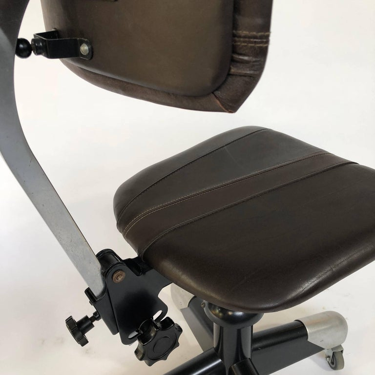 Gispen, CH. Hoffmann 1953 Workchair, Writing Chair 359 PQ In Good Condition For Sale In Achterveld, NL