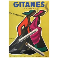 Gitanes Caporal by Guy Georget Original Vintage Poster