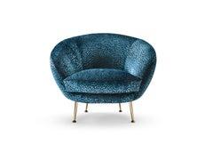 Giulia armchair blue velvet
