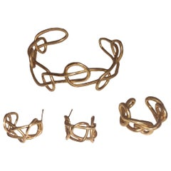Giulia Barela 24 Karat Fine Gold-Plated Bronze Knot Three in One Set