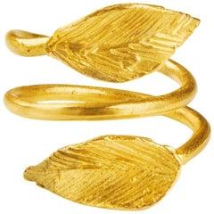 Giulia Barela Jewelry Abraccio Ring 18 Karat Gold
