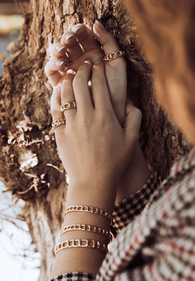 Women's or Men's Animo Bracelet 18 Karat Gold For Sale