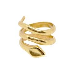 Giulia Barela Jewelry Coil Double Ring 18 Karat Gold