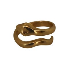 Giulia Barela Jewelry Coil Small Ring 18 Karat Gold