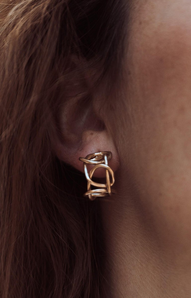 Giulia Barela Jewelry Knot Light Earring 18 Karat Gold In New Condition For Sale In Rome, IT