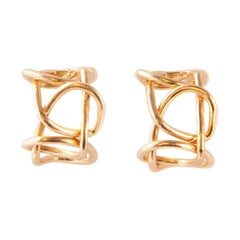 Giulia Barela Jewelry Knot Light Earring 18 Karat Gold