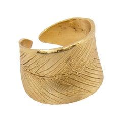 Giulia Barela Jewelry Leaves Single Ring 18 Karat Gold