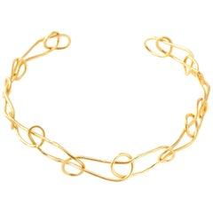 Giulia Barela Jewelry Light Knot Choker Gold Plated Bronze