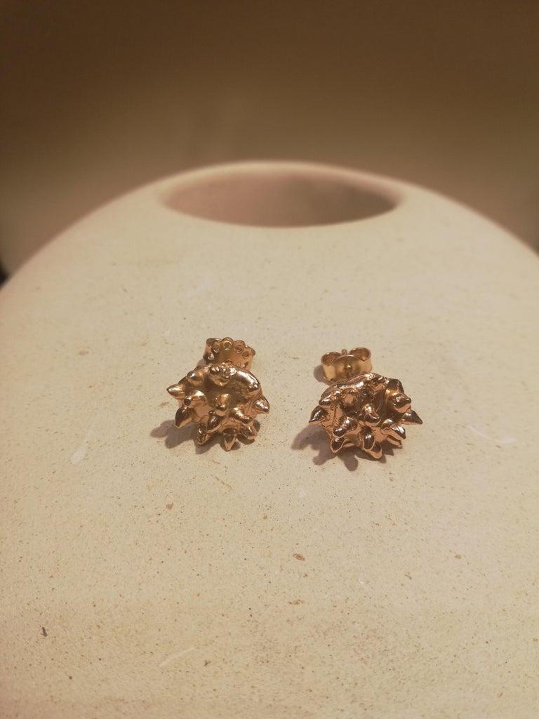 Contemporary Giulia Barela Jewelry Lisa Earring 18 Karat Gold For Sale