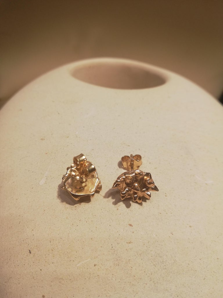 Giulia Barela Jewelry Lisa Earring 18 Karat Gold In New Condition For Sale In Rome, IT