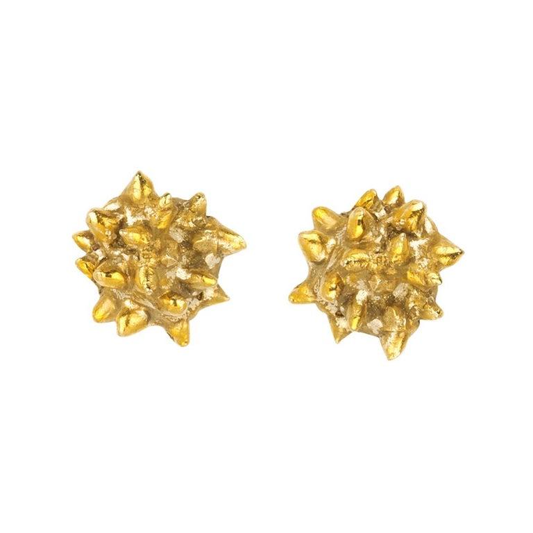 Giulia Barela Jewelry Lisa Earring 18 Karat Gold For Sale