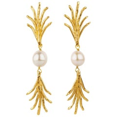 Giulia Barela Jewelry Madagascar Earrings Gold Plated Bronze