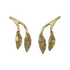 Giulia Barela Jewelry Mobile Leaves Earrings Medium 18 Karat Gold