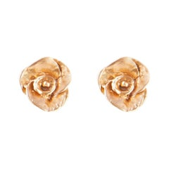 Giulia Barela Jewelry Rose Earrings 18 Karat Gold