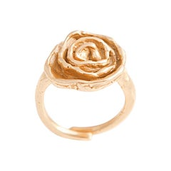 Giulia Barela Jewelry Rose Ring 18 Karat Gold