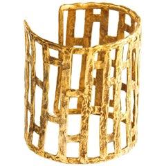 Giulia Barela Jewelry Skyscraper Cuff Bracelet Gold Plated Bronze