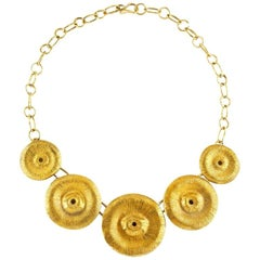 Giulia Barela Jewelry Soli Necklace Gold Plated Bronze
