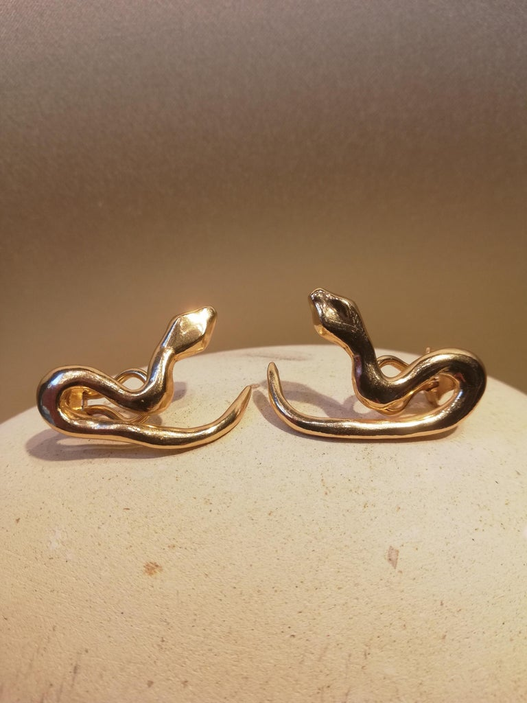 Giulia Barela Jewelry Tail Earrings 18 Karat Gold In New Condition For Sale In Rome, IT