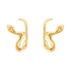 Giulia Barela Jewelry Tail Earrings 18 Karat Gold