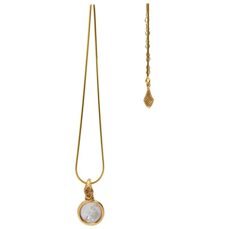 Giulia Barela Jewelry Theda Bara Pendant 18 Karat Gold For Sale