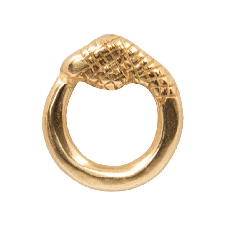 Giulia Barela Jewelry Uroboro Small Earrings 18 Karat Gold For Sale