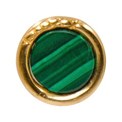 Giulia Barela Jewelry Uroboro Stone Earrings 18 Karat Gold
