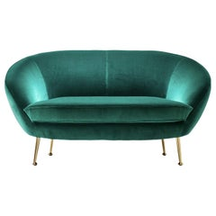Giulia Green Sofa in Beech Wood