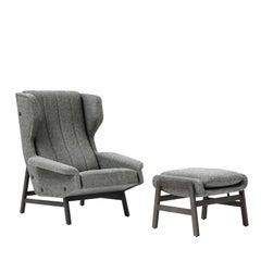 Giulia Grey Accent Chair by Gianfranco Frattini