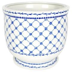 Giulia Mangani Blue and White Porcelain Cachepot