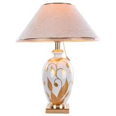 Giulia Mangani Porcelain Table Lamp - Lilium Collection, Italy, Florence