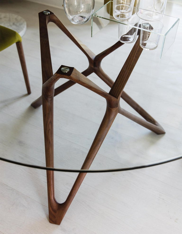 Glass Giulia Round Table For Sale