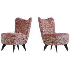 Giulia Veronesi Pair of 'Perla' Slipper Chairs, ISA Bergamo, Italy, 1950s