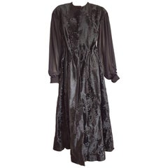 Giuliana TESO Haute Couture fur dress of black wild Russian breshvans - Unworn
