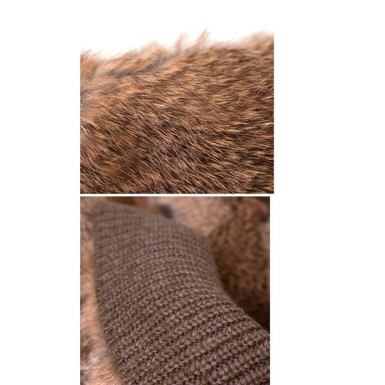 Giuliana Teso Rabbit Fur Coat - Size US 6 For Sale 5