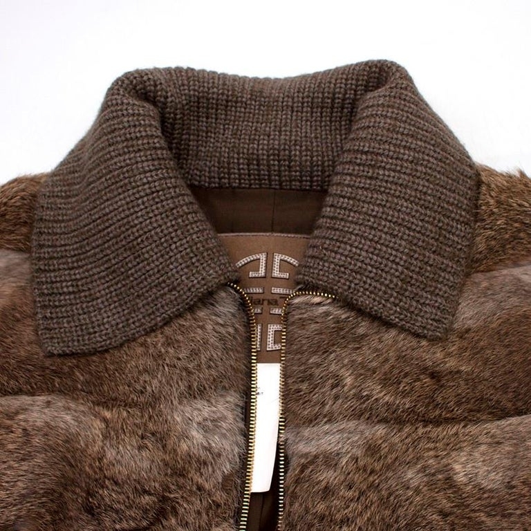 Giuliana Teso Rabbit Fur Coat - Size US 6 In Excellent Condition For Sale In London, GB