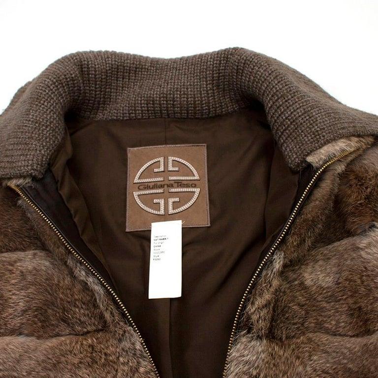 Women's Giuliana Teso Rabbit Fur Coat - Size US 6 For Sale