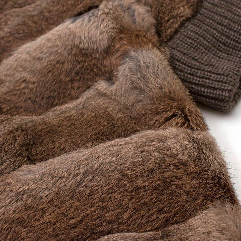 Giuliana Teso Rabbit Fur Coat - Size US 6 For Sale 1