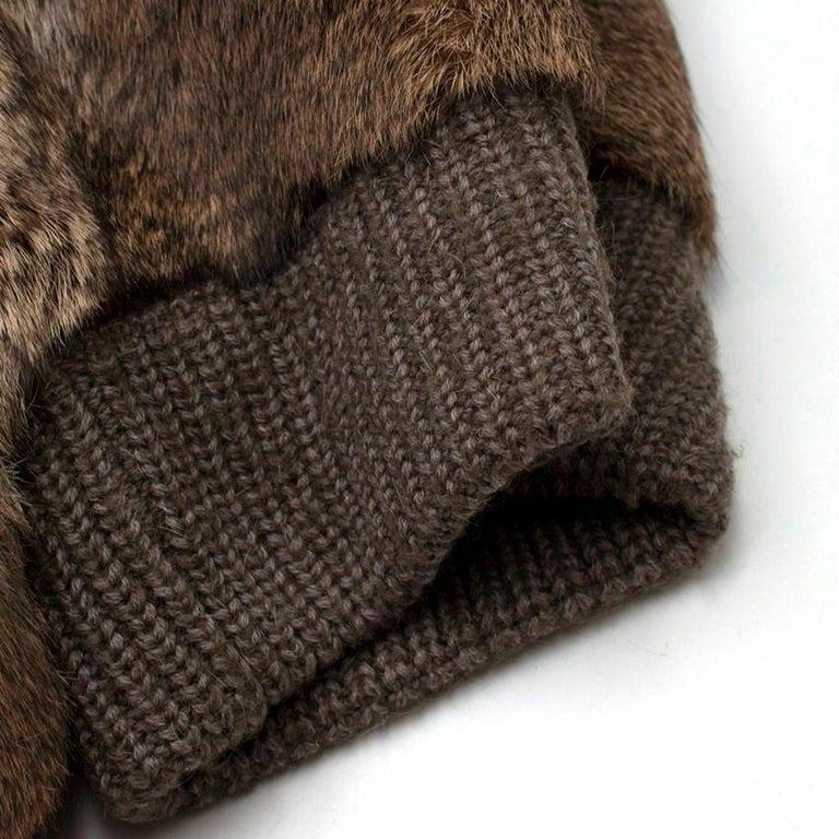 Giuliana Teso Rabbit Fur Coat - Size US 6 For Sale 2