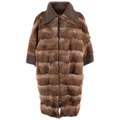 Giuliana Teso Rabbit Fur Coat - Size US 6