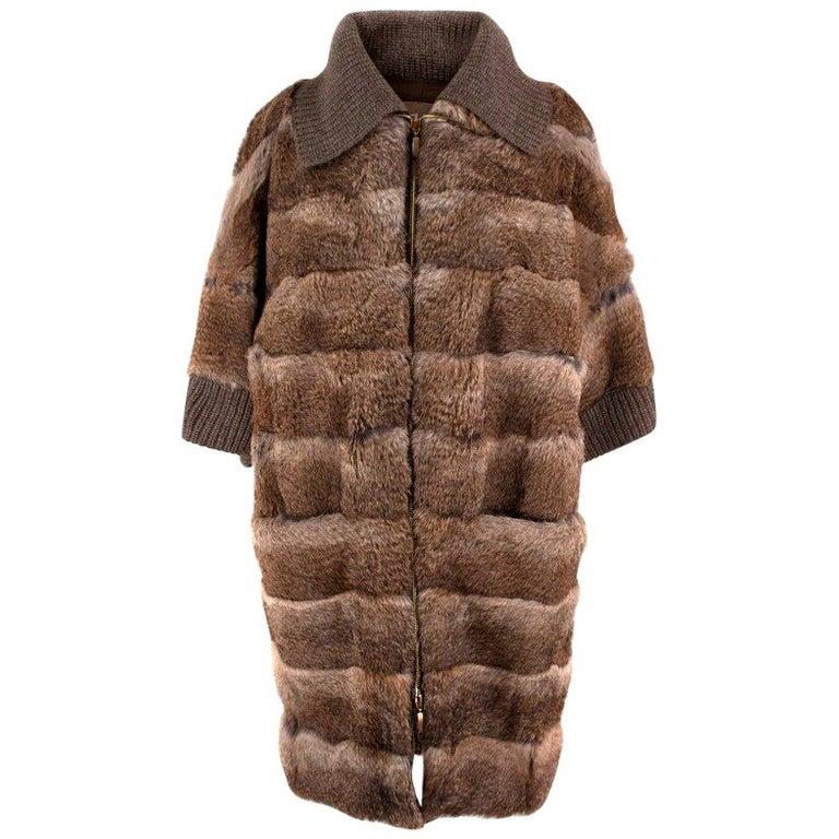 Giuliana Teso Rabbit Fur Coat - Size US 6 For Sale