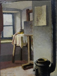 """Interior of the painter's studio"""