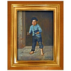Giulio Del Torre, Young Match Selling Boy in Northern Italy, 1905