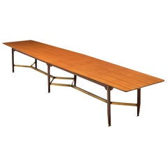 Giulio Moscatelli Long Conference Table in Teak