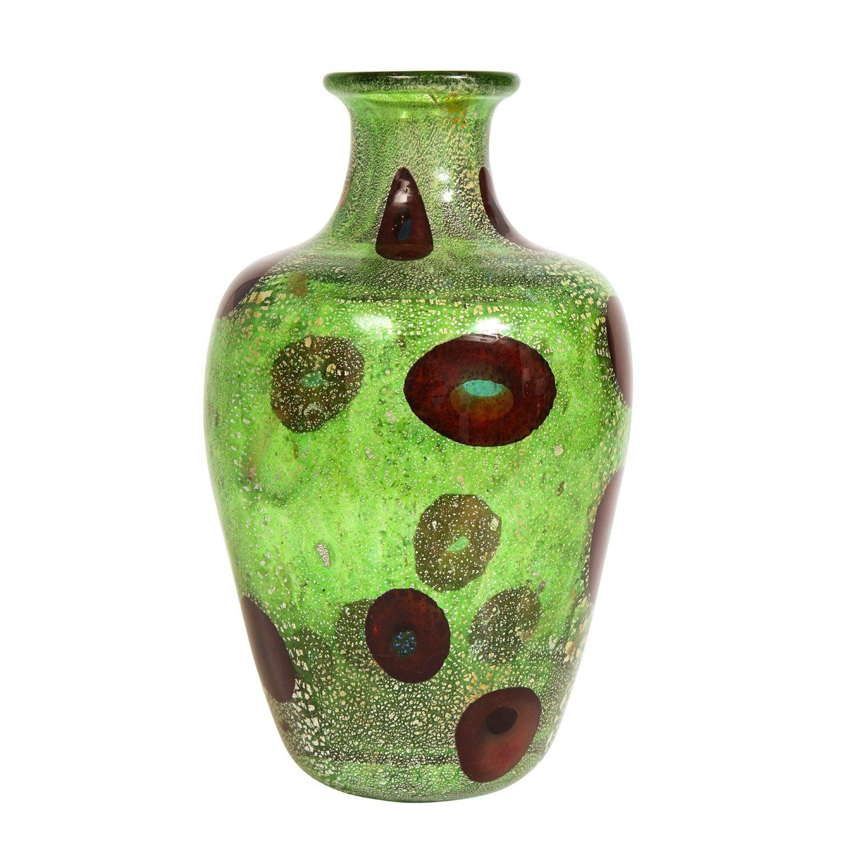 Giulio Radi Vase with Colorful Murrhines, ca 1950