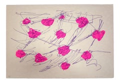 Abstract Composition - Original Screen Print by Giulio Turcato - 1970