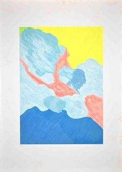 Abstract Composition - Original Screen Print by Giulio Turcato - 1970s
