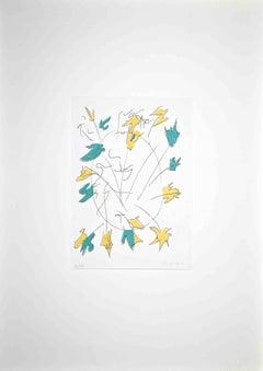 Abstract Composition - Original Screen Print by Giulio Turcato - 1976