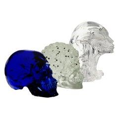 Giuman, Memento Mori Trittico Evolution, Murano Glass Lost Wax Cast, 2010