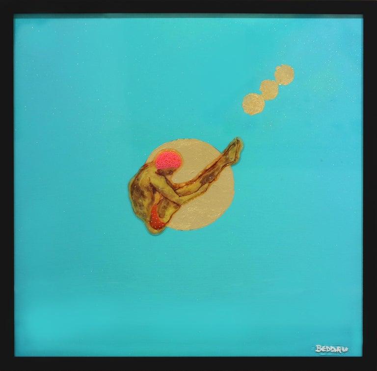 A Golden Day - Ocean Inspired Painting - Mixed Media Art by Giuseppe Beddru
